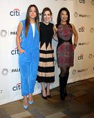 LOS ANGELES - MAR 23:  Chloe Bennet, Elizabeth Henstridge, Ming-Na Wen at the PaleyFEST 2014 -
