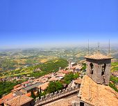 picture of apennines  - View on Italy from Monte Titano - JPG