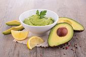 picture of avocado  - avocado and guacamole - JPG