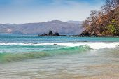 picture of papagayo  - Scenic view of the beach along the Golfo de Papagayo in Guanacaste Costa Rica - JPG