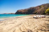 pic of papagayo  - Scenic view of the beach along the Golfo de Papagayo in Guanacaste Costa Rica - JPG