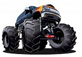 stock photo of monster-truck  - Cartoon Monster Truck - JPG