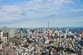 stock photo of minato  - View of Tokyo Town in day time - JPG