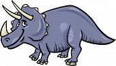 Triceratops Dinosaur Cartoon Illustration