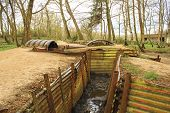 stock photo of world war one  - Trenches in Flanders Fields Ypres great world war one Hill 62 - JPG
