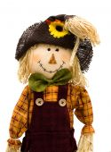 foto of scarecrow  - A scarecrow isolated on a white background autumn scarecrow - JPG