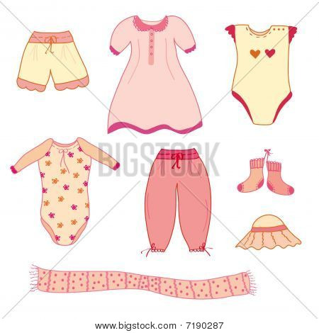 Set of baby girl nice clothes