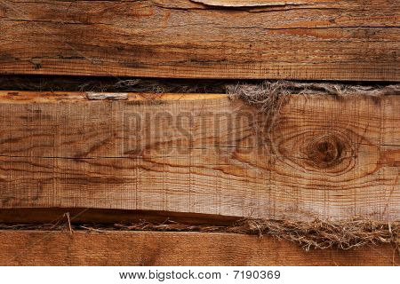 Shaggy Wooden Wall