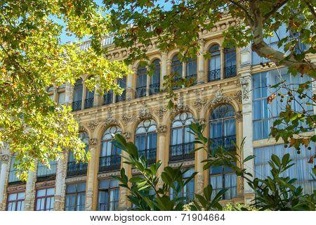 Art Nouveau Style Facade Building