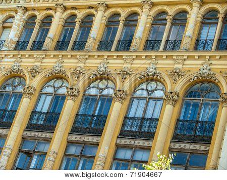 Art Nouveau Style Facade Building Detail