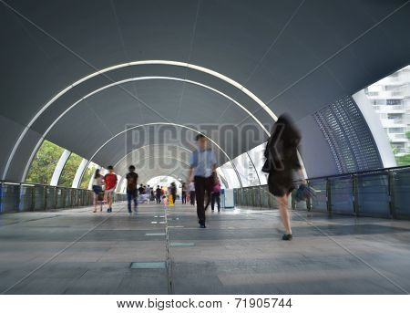 Tunnel with pedestrians