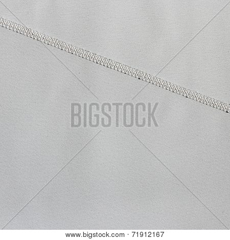 Grey Fabric Texture With Seam