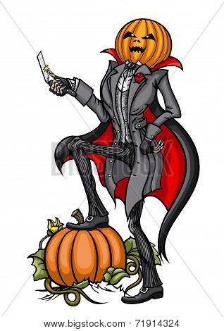 Halloween Pumpkin Head Jack with Blade
