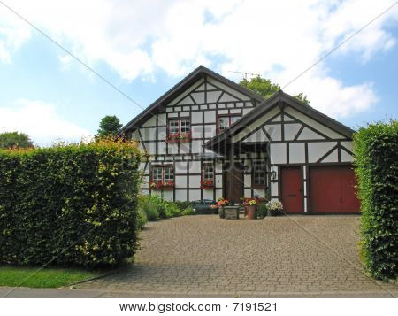 New half-timbered house