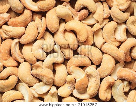 Cashew Nuts As Food Background