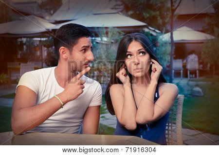 Cute Young Couple Arguing