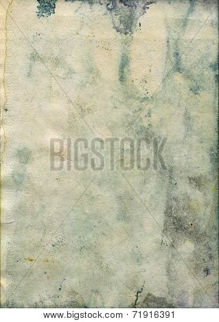 Stained old watercolor paper texture