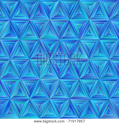 Seamless Blue Triangulate Pattern