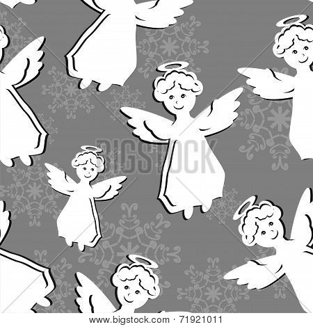 seamless background with angels