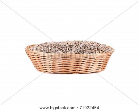 Full basket with sunflower seeds.