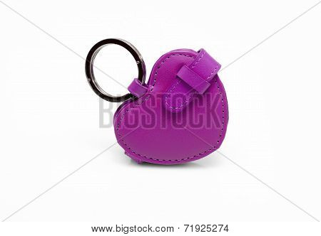 purple leather trinket