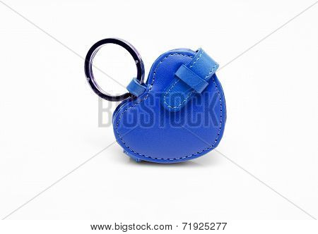Blue leather trinket