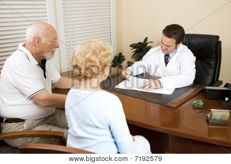 Senior Couple With Doctor