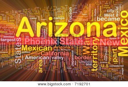 Arizona State Background Concept Glowing