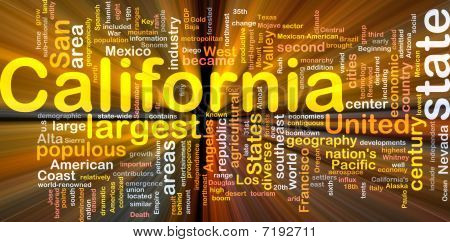 California State Background Concept Glowing