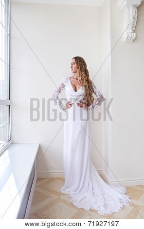 The Beautiful Bride In An Interior