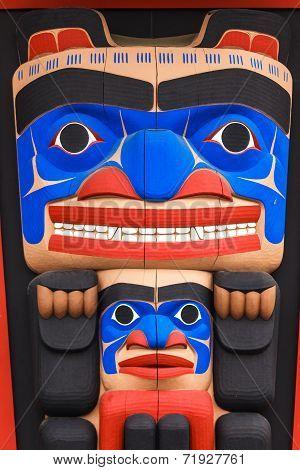 Totem pole at North America