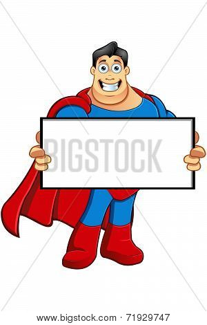 A Cartoon Superhero Character