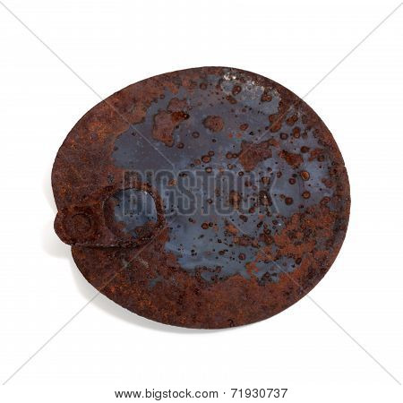 Old Rusty Cap Of Tin Can
