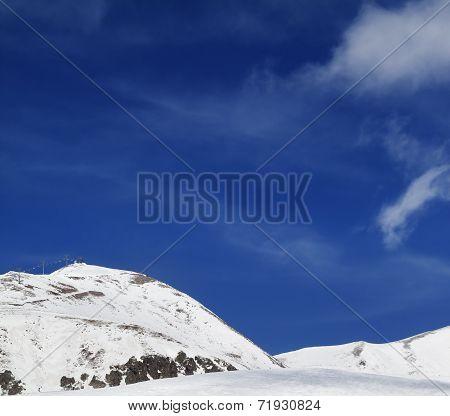 Ski Resort At Sun Winter Day