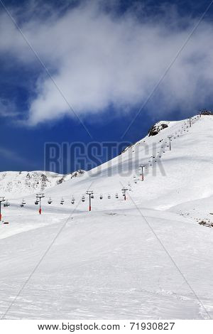 Chair-lift And Ski Slope