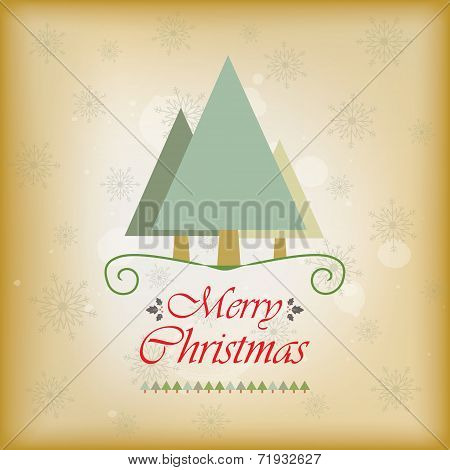 Vintage style holiday greeting card
