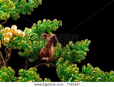 Tree Beads  With Squirrel