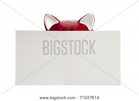 Piggy Bank With Blank Note
