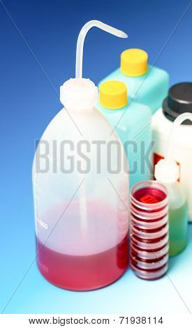 laboratory Wash Bottles for science experiment, dispensing bottles