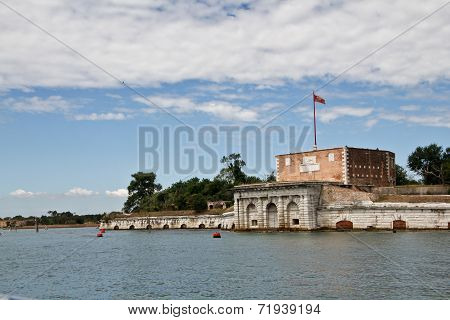 Venice, View From Side Of The Lagoon.