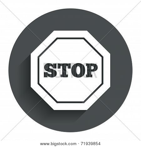 Traffic stop sign icon. Caution symbol.