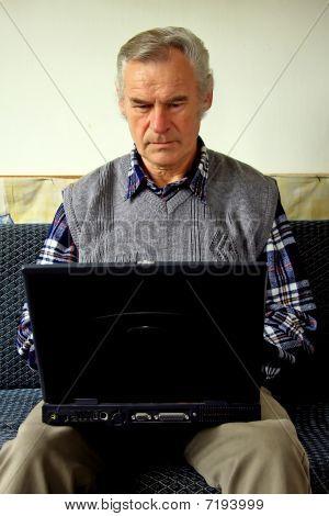Senior retired man