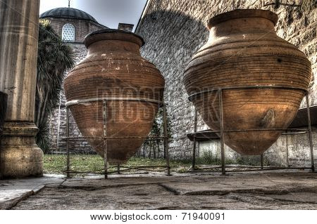 Giant Wine Pitchers at Topkapi Palace, Istanbul
