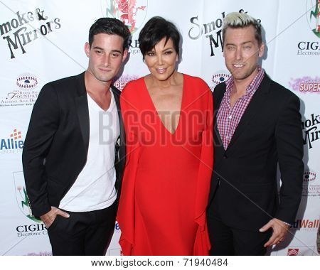 LOS ANGELES - SEP 13:  Kris Jenner, Lance Bass at the 2014 Brent Shapiro Foundation Summer Spectacular at Private Residence on September 13, 2014 in Beverly Hills, CA