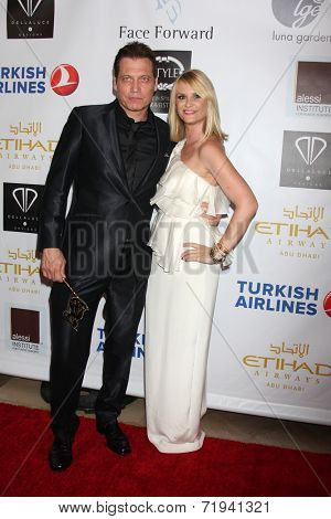 LOS ANGELES - SEP 13:  Holt McCallany, Bonnie Somerville at the 5th Annual Face Forward Gala at Biltmore Hotel on September 13, 2014 in Los Angeles, CA