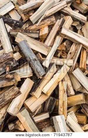 Split firewood.