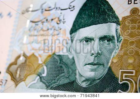 Muhammad Ali Jinnah on banknote