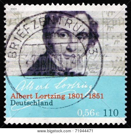 Postage Stamp Germany 2001 Albert Lortzing, Opera Composer
