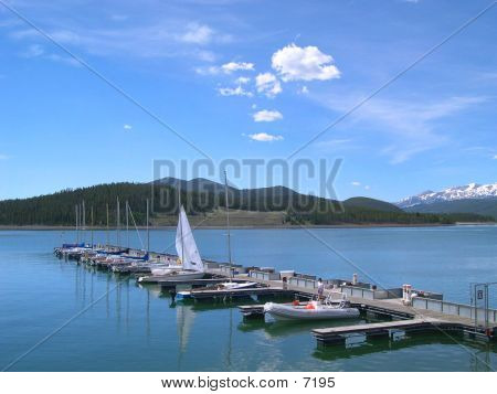 Lake Dillon With Boats poster