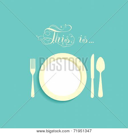 Empty plate with no food